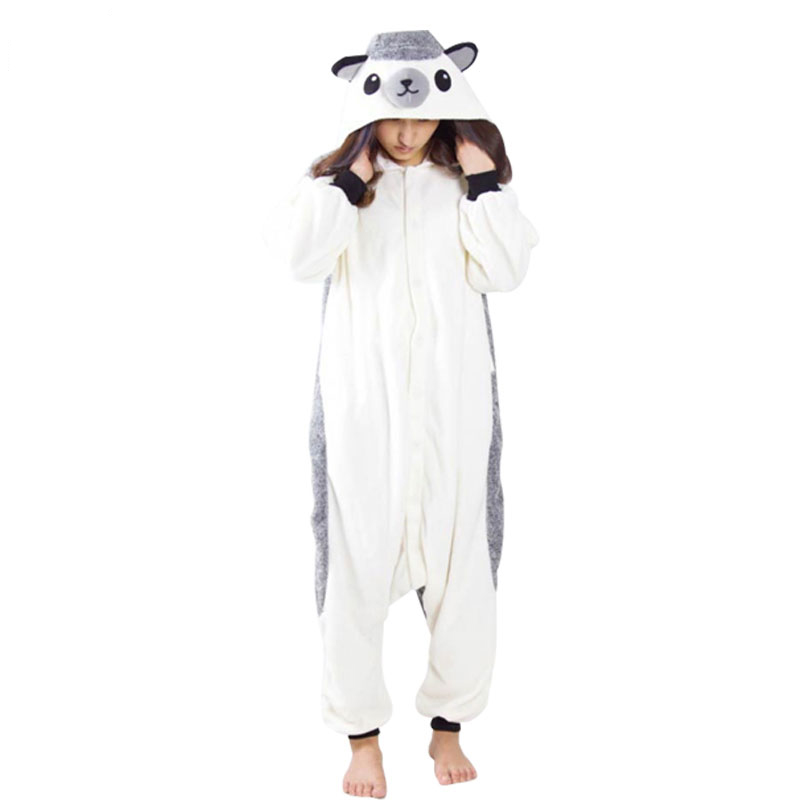 Lovable Hedgehog Cartoon Polar Fleece Kigurumi Onesie Warm Women Pajamas Adult Bodysuit Sleepwear For Winter Halloween Costume
