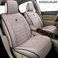 Чехол для автомобильного сиденья kokolee  универсальный льняной чехол для Land Rover  все модели Rover Range Evoque Sport Freelander Discovery 3 4  Стайлинг автомобиля