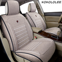 kokololee Universal flax Car Seat cover for Land Rover all models Rover Range Evoque Sport Freelander Discovery 3 4 car styling