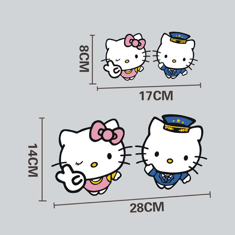 Car Sticker Hello Kitty Play The Role Of Police Decals Funny Styling  Accessories Kitty Series Decals