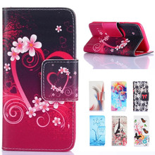 For LG Leon Luxury Cute Cartoon Love Tower Pattern Wallet Leather Flip Fundas Coque Case sFor LG Leon H324 H340 C40 450 Cover