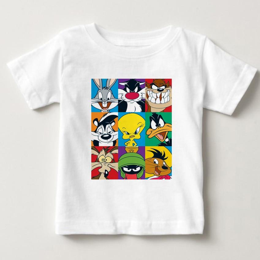 NOVO Looney Tunes Tasmanian Devil Não Desculpa O Meu Dia Para Cuidar T-Shirt Impressão T Camisa Dos Miúdos de Manga Curta Verão Quente camisa do bebê Menino