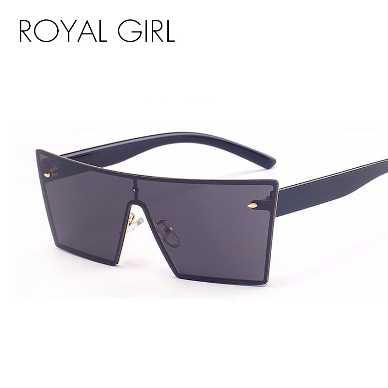 ROYAL GIRL Square Frame Women's Rimless Sunglasses Female Oculos Brand Designer Sun glasses Mirror Rimless Sunglasses ss807