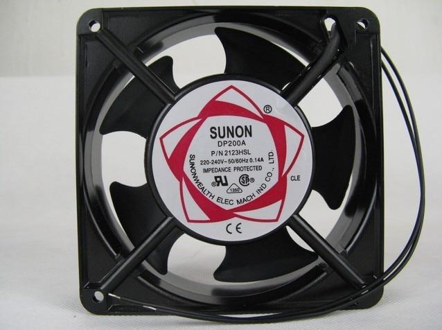 SUNON 12038 DP200A 2123XBL fan exhaust fan 220V 12CM 120*120*38MM  12038  cooling fan sunon ac 220v aluminum cooling fan 120 x 120 x 25mm computer