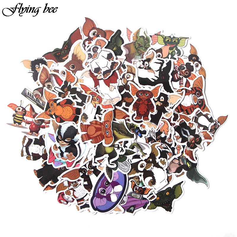 Flyingbee 66 Pcs Gremlins Anime Sticker Decals Scrapbooking Stickers for DIY Luggage Laptop Car Phone Skateboard Graffiti X0019-in Stickers from Consumer Electronics