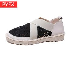 New Gentle Shoes Fairy In Summer Of 2019 Korean Hollow Sandals Female Hong Kong Style Retro Flat-soled Student