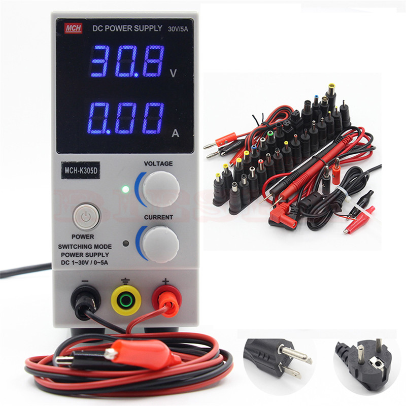 MCH-K305D Portable Mini DC regulated Adjustable DC power supply Mobile phone laptop repair power mystery mch 1025