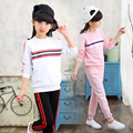 2017 baby girl boy clothing set Spring Autumn children's clothing Girl Princess tracksuits sets 100% cotton sweatshirts+trousers