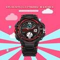 2016 nueva sanda marca niños reloj caliente deportes al aire libre niños muchachas del muchacho led despertador digital reloj impermeable relojes para niños