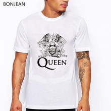 Freddie Mercury The Queen Band T Shirt Men Hip Hop Rock Hipster tshirt camisetas hombre Casual harajuku shirt streetwear tops