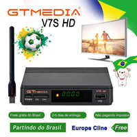 Receptor de TV satelital Gtmedia V7S HD compatible con Europa Cline para España DVB-S2 decodificador satelital Freesat V7 HD