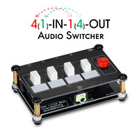 Little Bear Mini 4(1) IN 1(4) OUT 3.5mm Audio Switcher Passive Selector Signal Splitter Amplifier