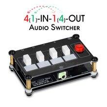 Piccolo Orso Mini 4 (1) IN 1 (4)  OUT 3.5 millimetri Audio Switcher Selettore Splitter Amplificatore di Segnale Passivo