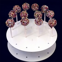 Wedding Ceremony Birthday Party Decoration Round Shape 16Hole Lollypop Lolly Pop Candy Round Cupcake Cake Pop