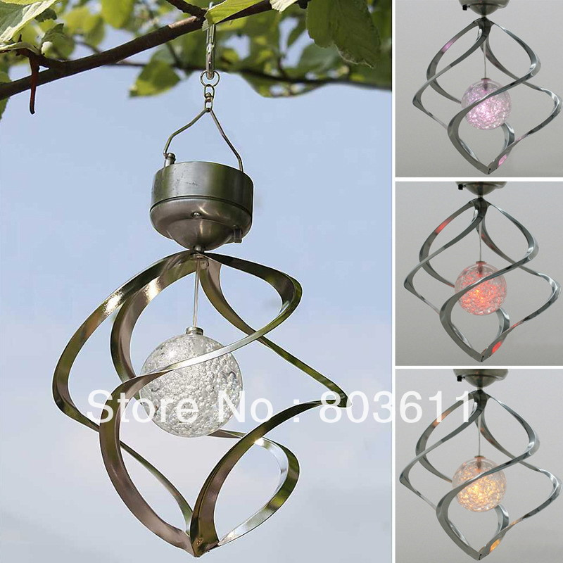 Galaxy wind spinner decorative garden accents autos post for Outdoor hanging ornaments