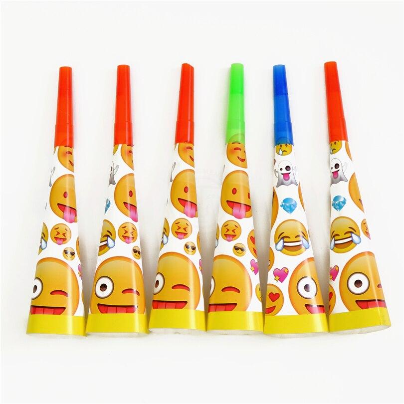 6pcs/lot Horn Trumpet Emoji Kids Birthday Party Supply