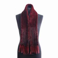 HARPPIHOP FUR Fur scarf mink scarf mink knitted scarf women's mink hair scarf