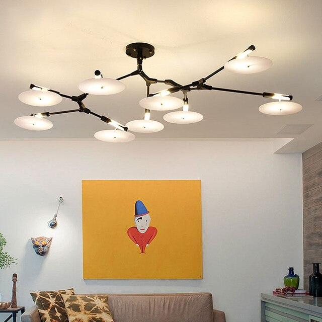 Post Modernen Minimalistischen Schlafzimmer Wohnzimmer Lampe Luxus Modell  Haus Kreative Designer Drehen Singles Pendelleuchte