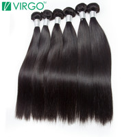 V Only Virgo Brazilian Remy Hair Straight 100 Natural Human Hair Extensions 1B Black Can Be