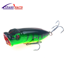 цена CRANK BAITS 2018 Hot Model Retail fishing lures hard bait 5 colors 70mm 10g Pencil popper Floating topwater baits YB203 онлайн в 2017 году