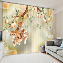 The Cute Tigers Tree 3D Printing Curtains With Bedding Room Living Room or Hotel Cortians Thick Sunshade Window Curtains
