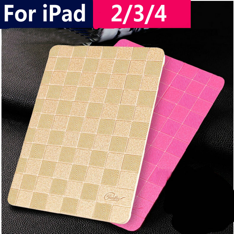 Original JOKADE Ultra thin luxury grid leather case for ipad 4 3 2 Smart Cover Smart cover for iPad4 Auto Wake Up Sleep Cover sgl luxury ultra smart stand cover for ipad air 1 ipad5 case luxury pu leather cover with sleep wake up function for ipad air1