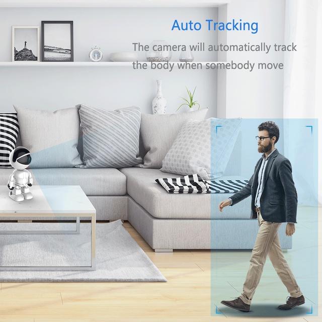 FREDI 1080P Cloud Home Security IP Camera Robot Intelligent Auto Tracking Camera Wireless WiFi CCTV Camera Surveillance Camera