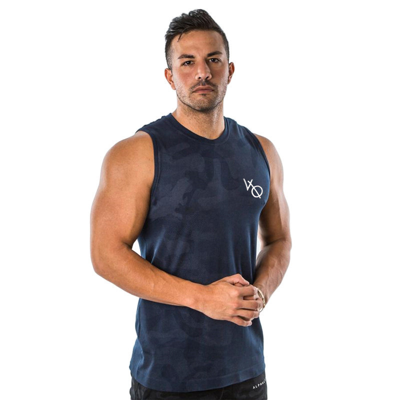 Mens Casual Fitness camouflage   Tank     Tops   For Male Summer cotton Sleeveless Active Muscle Shirts Vest Undershirts