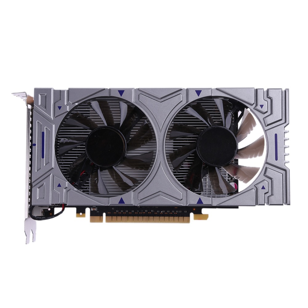 Hot Sale GTX 1050 2GB DDR5 128Bit VGA DVI HDMI Graphics Card for NVIDIA GeForce with Dual Cooling Fans for Desktop