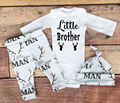 3Pcs/Set Autumn Winter Infant Baby Clothes Sets Little Brother Long Sleeve Tops + Christmas Deer Print Pants + Hat Outfit Set 21