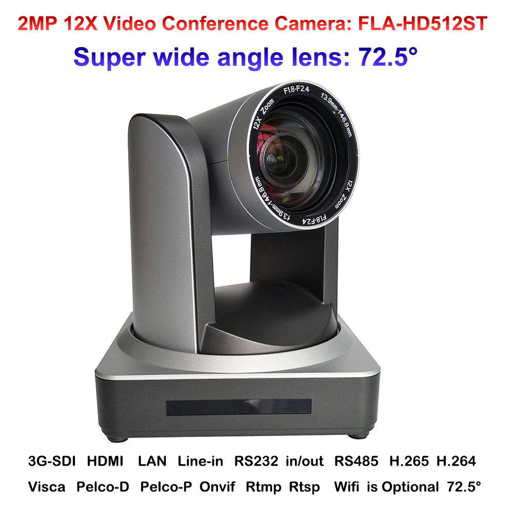 2018 Nouveau HD Plein 2MP Grand angle 12X Zoom L'enseignement Communication Vidéo Conférence Caméra IP Onvif avec HDMI SDI interface LAN