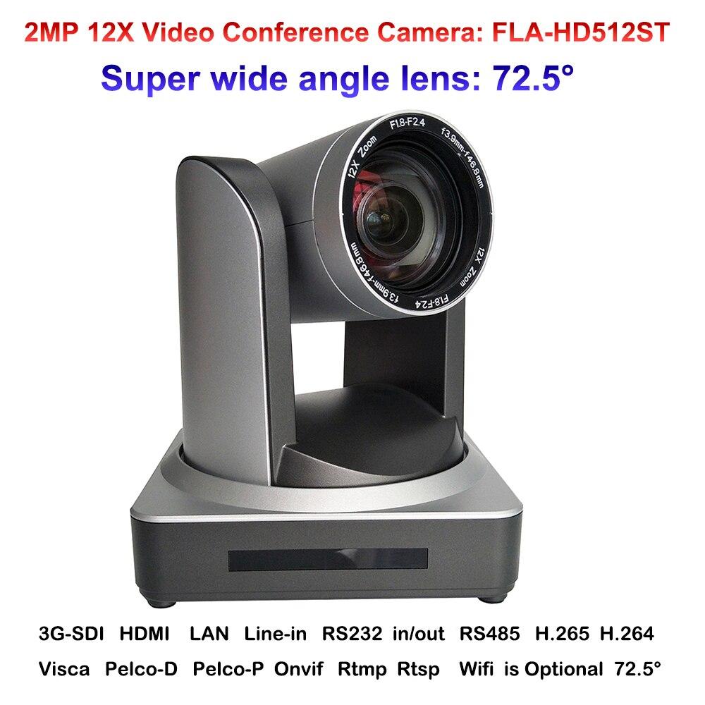2018 neue HD-Volle 2MP weitwinkel 12X Zoom Lehre Kommunikation Video Konferenz IP Kamera Onvif mit HDMI SDI LAN Interface