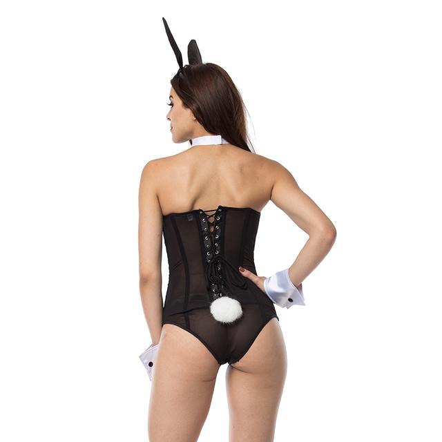 Black  Bunny Costumes Women Role-Playing Rabbit Girl Uniform