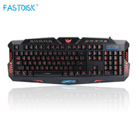 Russian Version Red/Purple/Blue Backlight LED Pro Gaming Keyboard M200 USB Wired Powered Full N Key for LOL Computer Peripherals