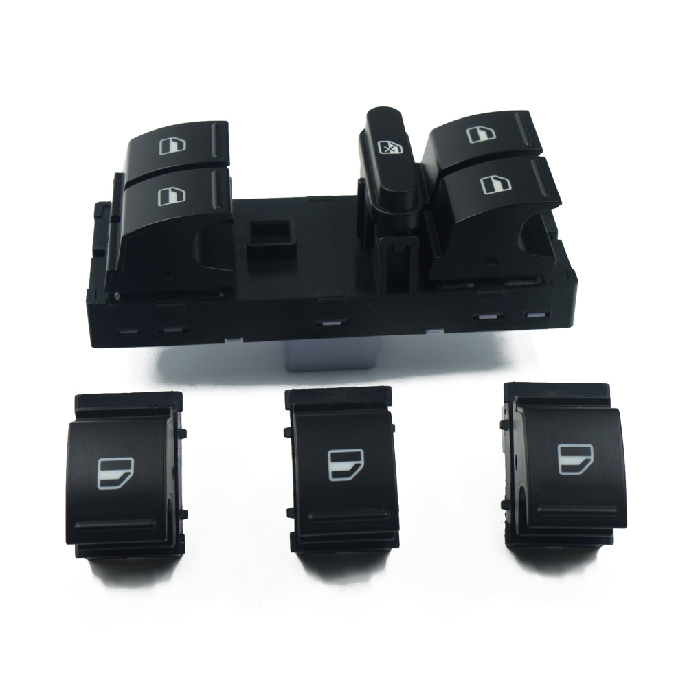 100% brand New high quality Window Switch SET for volkswagen VW jetta golf 5 6 touran tiguan caddy passat b6 cc + free shipping!-in Car Switches & Relays from Automobiles & Motorcycles