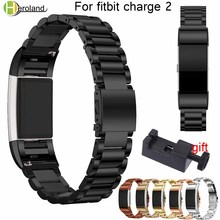 Metal watch Strap For fitbit charge 2 band Screwless Stainless Steel Bracelet For Fitbit charge2 Wristbands Replace Accessories hot sale fabulous stainless steel watch band strap metal clasp metal frame for fitbit charge 2 wholesale no29