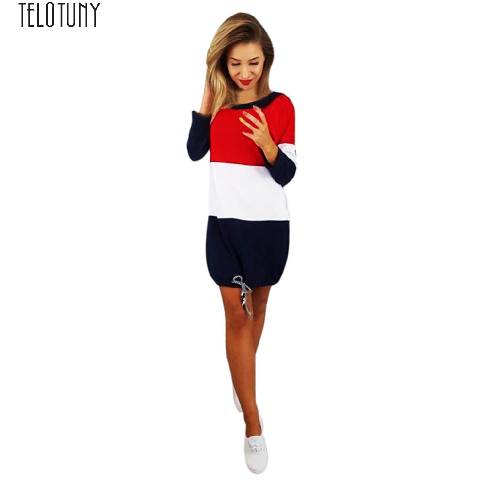 Adaptable Telotuny Lady Dresswomens Holiday O Collar Party Ladies Casual Dress Long Sleeve Dress Women Patchwork Dress Fashion Hot Jan19 Hot Sale 50-70% OFF Mother & Kids Pregnancy & Maternity