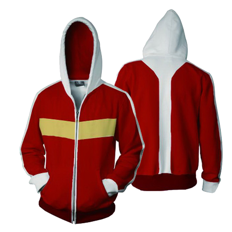 CostumeBuy Voltron:Legendary Defender Keith Red Jacket Halloween Costume Sweater men women Sweatshirts 3D Printing zipper Hoodie