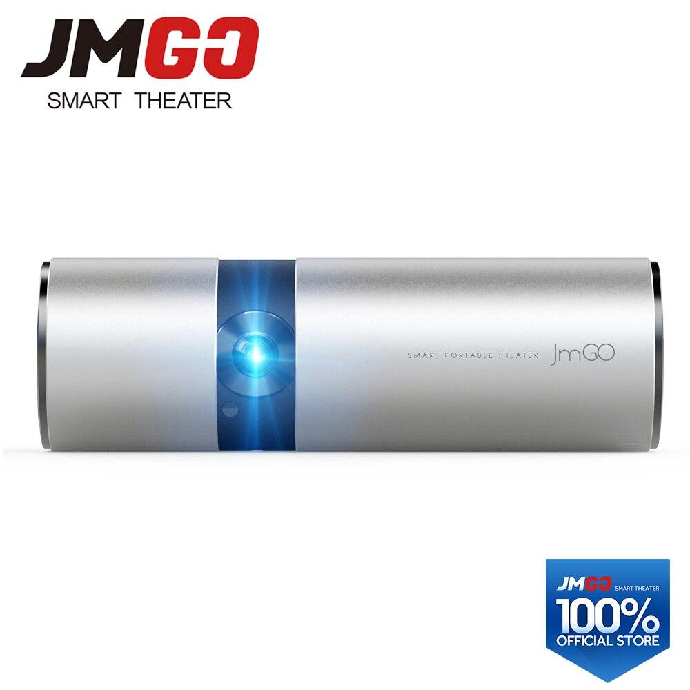 JMGO P2 proyector LED portátil 250 lúmenes ANSI, incorporada 15600 mAh batería de litio Android HD proyector, WIFI, altavoz Bluetooth