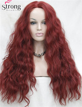 Lace Front Long Wave Red Heat Ok Synthetic Wig