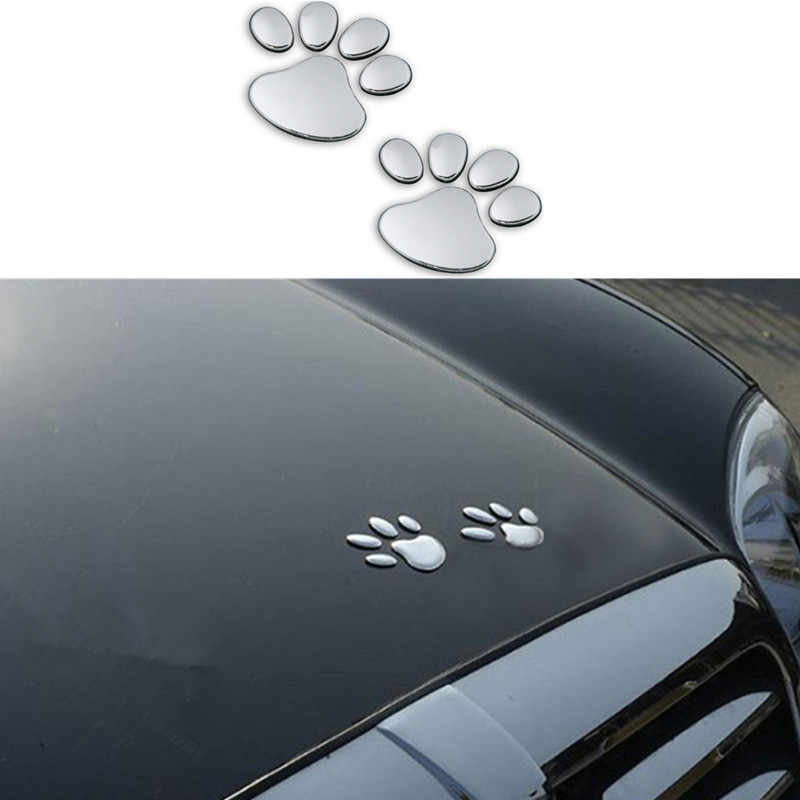 2pcs Car Sticker Cool Design Paw 3D Animal Dog Cat Bear Foot Prints Footprint for Volkswagen VW Jetta MK5 MK6 Polo Scirocco