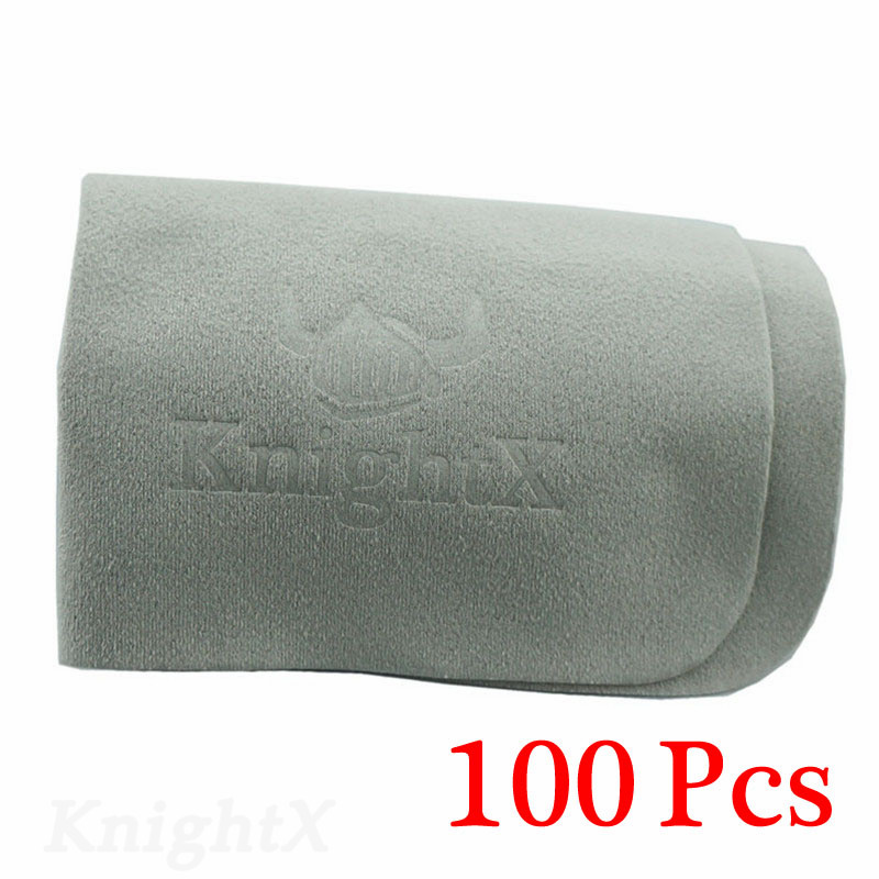 KnightX 100pcs Phone Screen Camera Lens filter Glasses Square Cleaning Screen Cloths Grey D5200 D5300 D5500