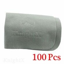 KnightX 100 個電話スクリーンのカメラレンズフィルターメガネ平方クリーニング画面布グレー D5200 D5300 D5500 D3300