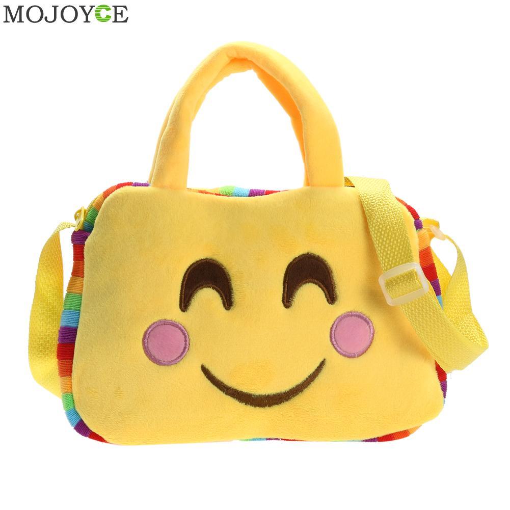 c5c72ddd7960 Emoji/Модная Уход за кожей лица выражение сумка Мягкие плюшевые игрушки  дети милые Сумки маленьких Обувь для девочек Повседневное сумка женск.
