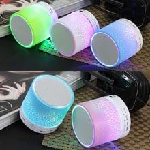 LED MINI Bluetooth Speaker Wireless Portable Music Speaker Sound Box Subwoofer TF USB Loudspeakers For phone PC