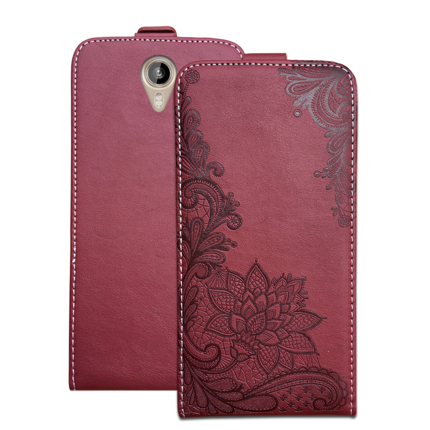3D Stereo Embossing lace flower butterfly flip up and down leather phone bag cover case for <font><b>Prestigio</b></font> Muze B3 <font><b>PSP3512</b></font> image