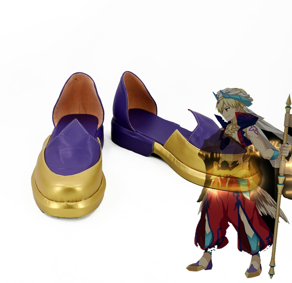 Fate Grand Order Caster Gilgamesh Cosplay Shoes Boots FGO Cosplay Custom Made