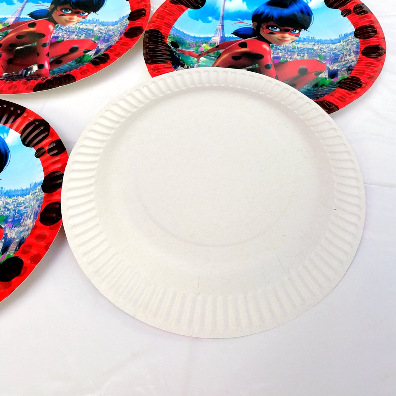 10pcs 7inch Miraculous Ladybug Cat Disposable Paper Plate Kid Boy Birthday Party supplies Cartoon Theme Round Plates Decoration-in Disposable Party ... : cat paper plate - pezcame.com