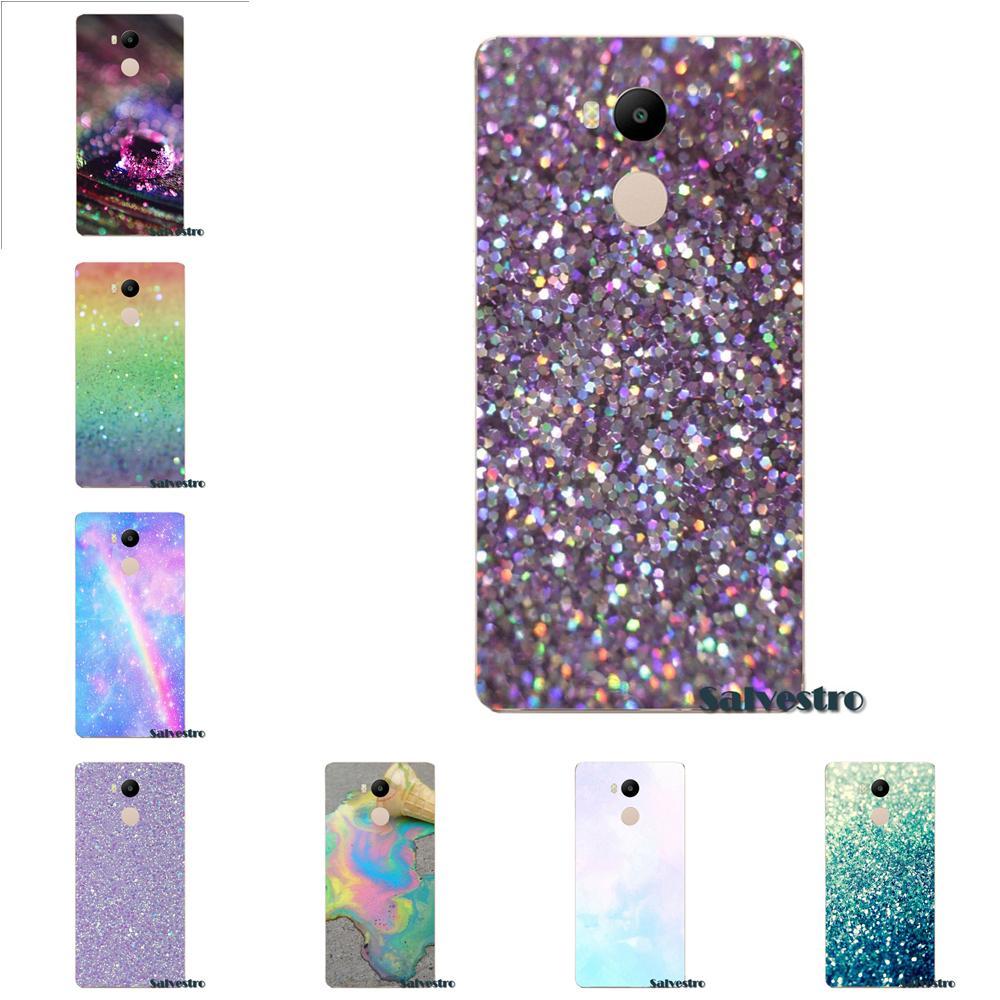 Pastel Sparkle Glitter Artwork Kawaii Soft Capa For Xiaomi Redmi 4 3 3S Pro Mi3 Mi4 Mi4i Mi4C Mi5 Mi5S Mi Max Note 2 3 4