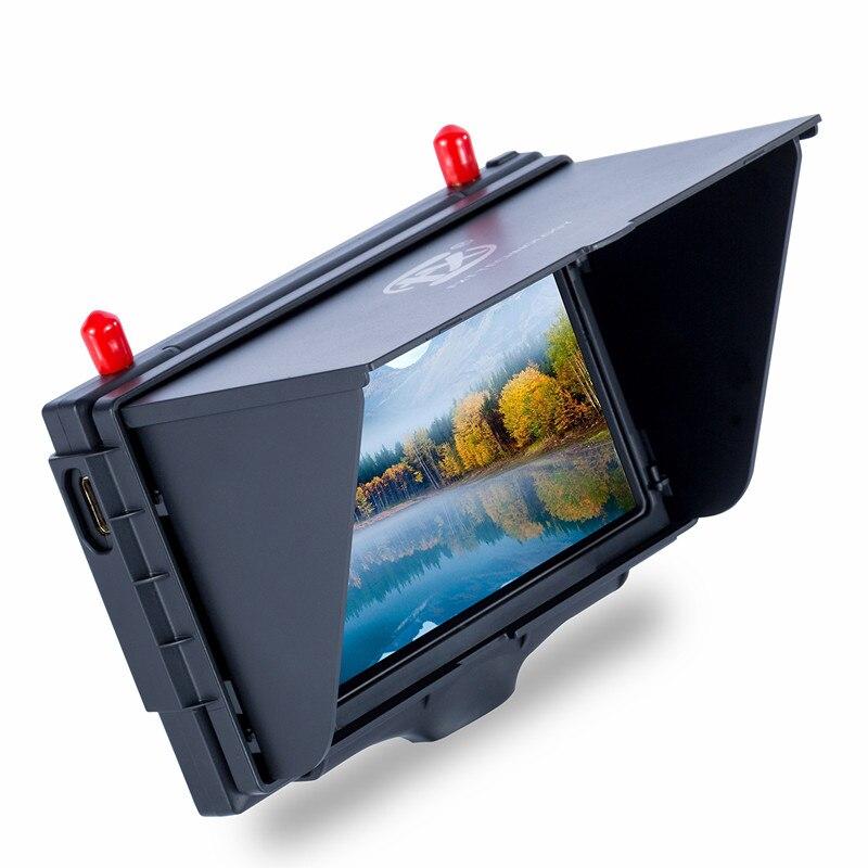 FXT FX508 haute luminosité 5 ''800x480 5.8 GHz moniteur récepteur de diversité avec DVR et port HD pour FPV quadrirotor Drones lunettes